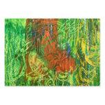 Cuadro tropical de los pájaros tarjetas de visita grandes