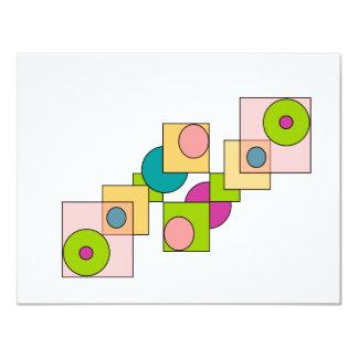 Cuadros griseados 4.25x5.5 paper invitation card