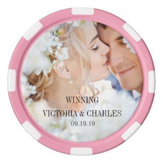 Cuaesquiera favores del boda del color del juego de fichas de póquer