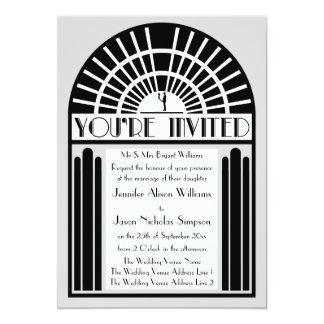 Cuaesquiera invitaciones intrépidas del boda del invitación 12,7 x 17,8 cm