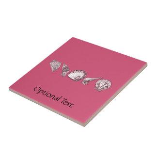 Cuaesquiera Seashells del personalizable del color Azulejo Cuadrado Pequeño