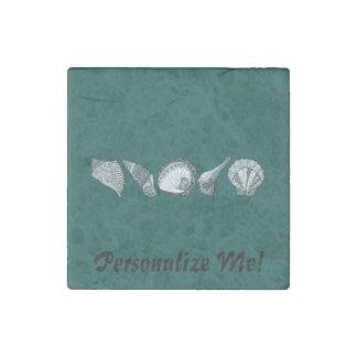 Cuaesquiera Seashells del personalizable del color Imán De Piedra