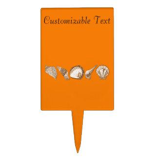 Cuaesquiera Seashells del personalizable del color Palillos De Tarta