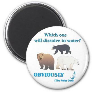 Cuál disolverá en química polar del agua imán redondo 5 cm