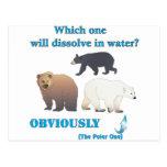 Cuál disolverá en química polar del agua tarjetas postales