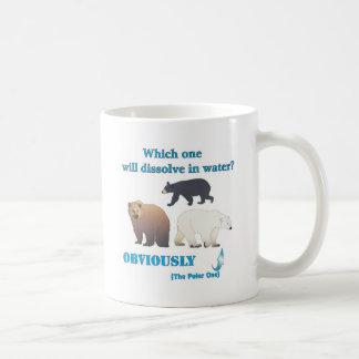 Cuál disolverá en química polar del agua taza de café