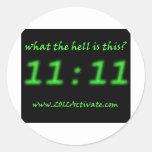 ¿Cuál es 11:11? Pegatina Redonda
