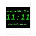 ¿Cuál es 11:11? Postal