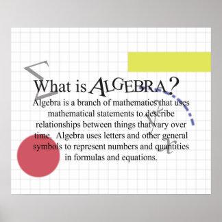 ¿Cuál es álgebra Updated del poster