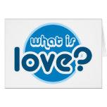 ¿Cuál es amor? Tarjeta de felicitación