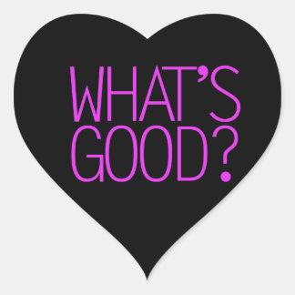 ¿Cuál es bueno? Pegatina En Forma De Corazón