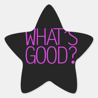 ¿Cuál es bueno? Pegatina En Forma De Estrella
