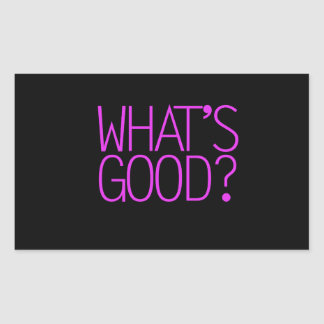 ¿Cuál es bueno? Pegatina Rectangular