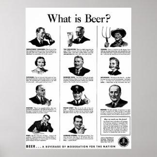 ¿Cuál es cerveza? Póster