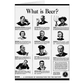 ¿Cuál es cerveza? Tarjeta De Felicitación