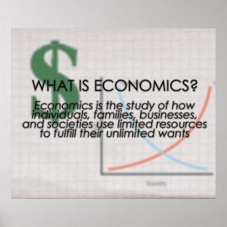 ¿Cuál es economía? *UPDATED* Póster