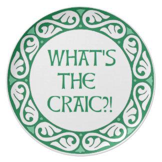 ¿Cuál es el Craic? Plato De Cena