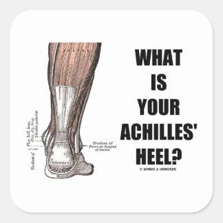 ¿Cuál es el su talón de Aquiles? (Anatomía del Pegatina Cuadrada