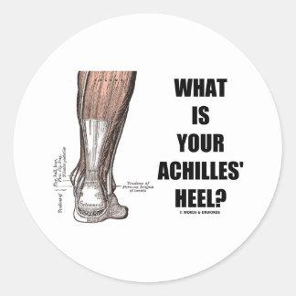 ¿Cuál es el su talón de Aquiles? (Anatomía del Pegatina Redonda