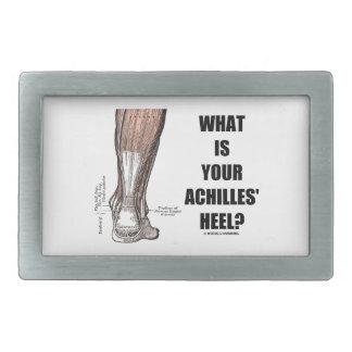 ¿Cuál es el su talón de Aquiles? (Anatomía del tal Hebilla De Cinturón Rectangular