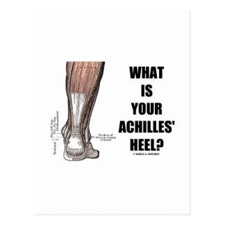 ¿Cuál es el su talón de Aquiles? (Anatomía del Tarjetas Postales