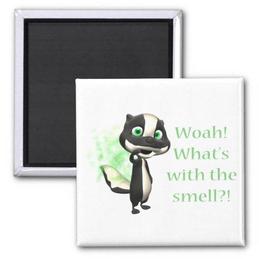 Cuál es esa mofeta del olor imán cuadrado