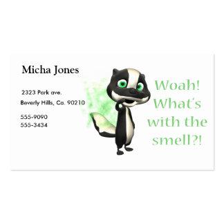 Cuál es esa mofeta del olor tarjetas de visita
