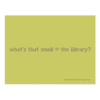¿cuál es ese olor @ la biblioteca? tarjeta postal