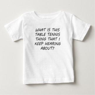 Cuál es esta cosa de los tenis de mesa t-shirt