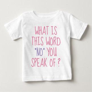 Cuál es esta palabra ninguna playera de bebé