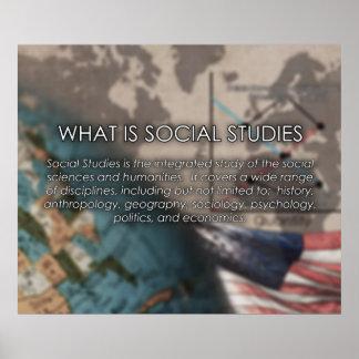 ¿Cuál es estudios sociales? *UPDATED* del poster Póster