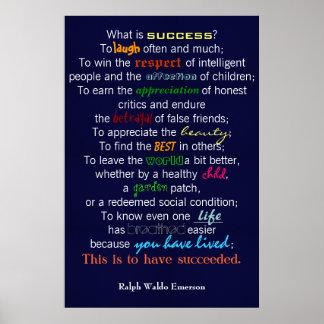 """""""Cuál es éxito?"""" - Ralph Waldo Emerson Póster"""