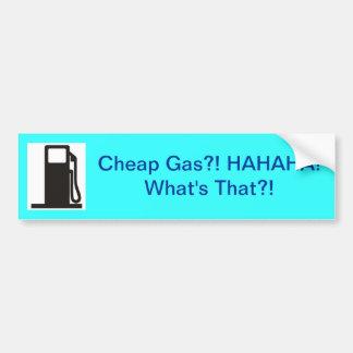 ¿Cuál es gas barato? Pegatina Para Auto