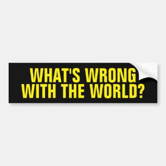 Cuál es incorrecto con el mundo pegatina para auto