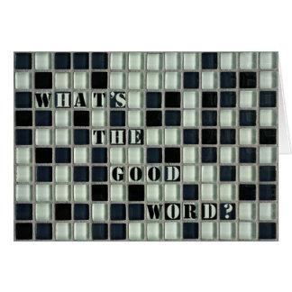 ¿Cuál es la buena palabra Tarjeta