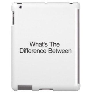 Cuál es la diferencia en medio funda para iPad