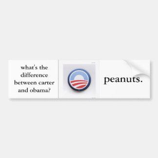 ¿cuál es la diferencia entre el careter y obama? pegatina de parachoque