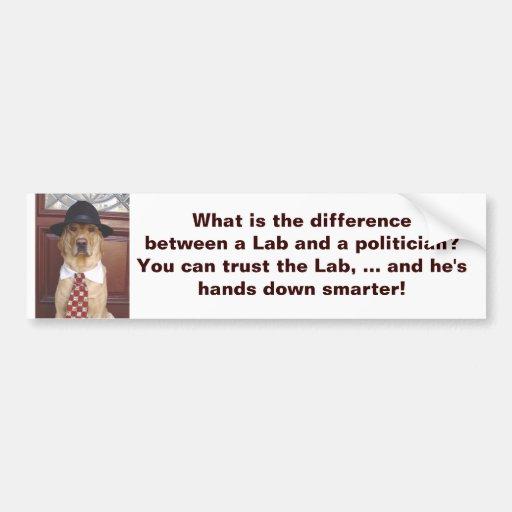 Cuál es la diferencia entre un laboratorio y un po etiqueta de parachoque