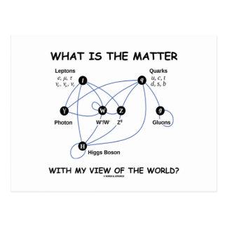 ¿Cuál es la materia con mi opinión del mundo? Postal