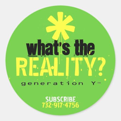 ¿Cuál es la realidad? Pegatina