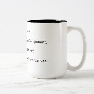 ¿Cuál es los componentes del programador? Taza De Dos Tonos