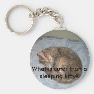 ¿Cuál es más lindo que gatito el dormir de A? Llavero Redondo Tipo Pin