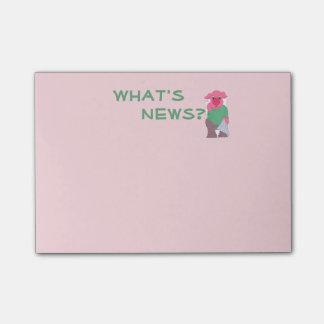 ¿Cuál es noticias? Cerdo en el retrete Nota Post-it®