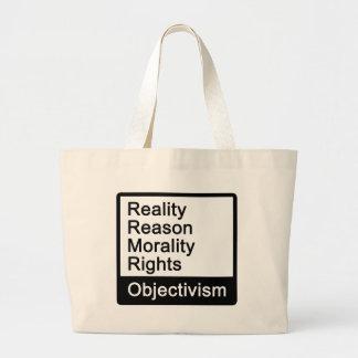 ¿Cuál es Objectivism? bolso Bolsa Tela Grande
