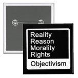 ¿Cuál es Objectivism? Botón Pin