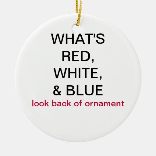 Cuál es ornamento BRITÁNICO rojo, blanco, y azul d Ornamento Para Arbol De Navidad