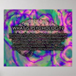 ¿Cuál es psicología UPDATED del poster