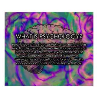 ¿Cuál es psicología? *UPDATED* del poster Póster