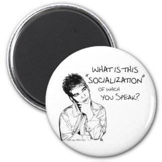 ¿Cuál es socialización? Imán Redondo 5 Cm