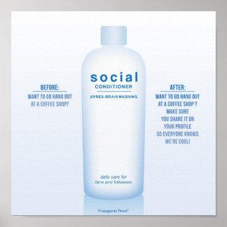 ¿Cuál es su acondicionador social? Poster